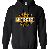40th Birthday Gift 1974 Limited Edition B-day T Shirt Cool hipster swag mens womens ladies hoodie hooded sweatshirt sweater Unisex - DT-606h
