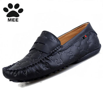Men's 100% Genuine Leather Driving Shoes New Moccasins Lace Up Handmade Shoes