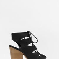 Betty Lace-Up Cut-Out Booties $52