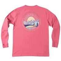 Escape the Ordinary Long Sleeve Tee in Rapture Rose by The Southern Shirt Co.