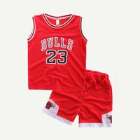 Toddler Boys Letter And Number Print Tee With Shorts