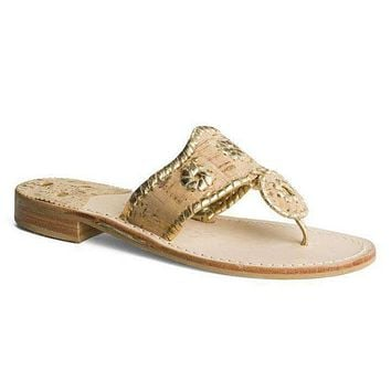 Napa Valley Navajo Sandal in Cork and Gold by Jack Rogers