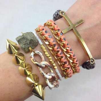 Just Peachy Arm Candy Bracelet Stack