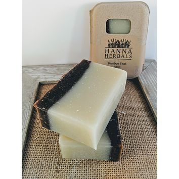 Bamboo Teak With Rose Hips Cold Processed Soap -