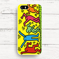 Keith Haring Pop Art iPhone 4s 5s 5c 6s Cases, Samsung Case, iPod case, HTC case, Xperia case, LG case, Nexus case, iPad case
