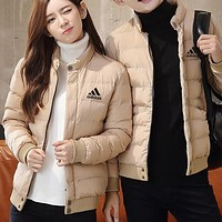 Adidas Women Men Fashion Casual Cardigan Jacket Coat Windbreaker