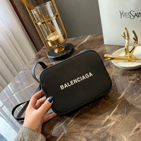 BALENCIAGA printed leather mini camera bag