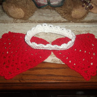 Made to Order Red Wings and White Crown or Headband Infant Baby Angel Photo Prop First Christmas Valentines Day Choose Colors