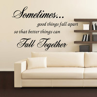 "Characters ""Sometimes good"" Wall Sticker Living Room Removable stickers home decor decoracion vinyl Black 57*78CM SM6"