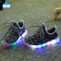 2017 Fashion LED light shoes 1 to 12 years old baby boys and girls sports shoes children casual shoes kids glowing sneakers