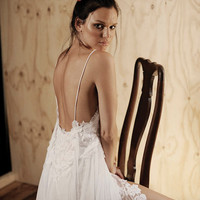 Luxury wedding dress bohemian beach wedding dress illusion wedding  fashion bridal gown  silk chiffon wedding summer dress romantic gown