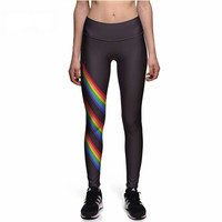 Black Rainbow High Waist Leggings