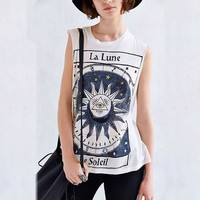 Print T-shirts Summer Round-neck Sleeveless Graphic Tee [8894724167]