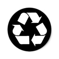 EcoFlair Sticker - Recycle. from Zazzle.com