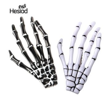 Fashion Hair Accessories Skeleton Claws Skull Hand Hair Clip Hairpin Zombie Punk Horror Bobby Pin Barrettes For Women hair clip