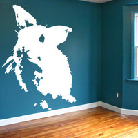 Rabbit Bunny Wall Decal Childrens Animal Wall decor Vinyl Art Sticker Girls Room Decoration