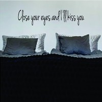 Close Your Eyes Version 2 The Beatles Quote Decal Wall Vinyl Art Sticker Music