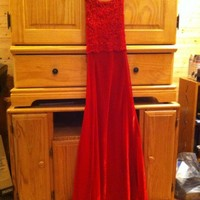 Women's Designed by Dillards by Roberta 5/6 Red Long Prom Dress