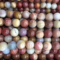 wooden agate gemstone beads - pink agate round beads - natural agate jewelry beads - 4mm 6mm 8mm 10mm 12mm agate beads - 15 inch