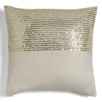 Nordstrom at Home 'Iris' Beaded Accent Pillow - Beige