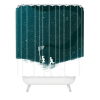 Budi Kwan Starfield Blue Shower Curtain