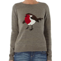 Grey robin jumper - View All New In   - What's New
