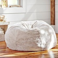 Coffee Luxe Faux Fur Hang-A-Round Chair