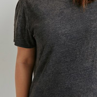 Plus Size Mineral-Wash Tee | Forever 21 PLUS - 2000053433