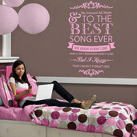 One Direction 'Best Song Ever' Wall Sticker