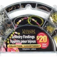 Cousin Precious Accents Jewelry Findings Collection 158/Pkg, Silver and Gold