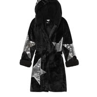 Bling Sherpa Lined Robe - PINK - Victoria's Secret