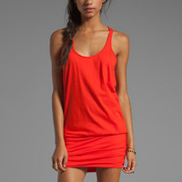 MONROW Double Scoop Tee Dress in Spearmint from REVOLVEclothing.com
