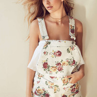 BDG Pinup Floral Denim Shortall Overall | Urban Outfitters