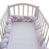 1M/2M Length Baby Bed Bumper Newborn Bumper Long Knotted Braid Pillow in the Crib Infant Room Decor Bedding Accessories for baby