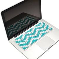 "TopCase Chevron Zig - Zag Silicone Keyboard Cover Skin for Macbook 13"" Unibody / Macbook Pro 13"" 15"" 17"" with or Without Retina Display / New Macbook Air 13"" / Wireless Keyboard + Topcase Design Chevron Mouse Pad (GREEN / YELLOW)"