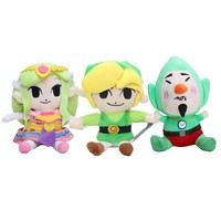 18-20cm The Legend of Zelda Plush Toys Wind Waker Link Boy With Sword Soft Stuffed Doll for Kids
