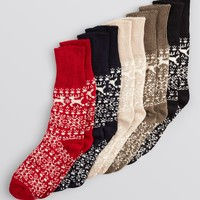 HUE Nordic Cuffed Boot Socks