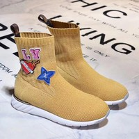 LV Woman Fashion Breathable Sneakers Running Shoes