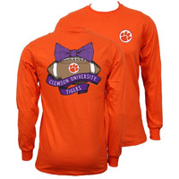 Southern Couture South Carolina Clemson Tigers Vintage Football Long Sleeve T-Shirt