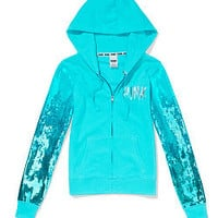 Bling Perfect Zip Hoodie - PINK - Victoria's Secret