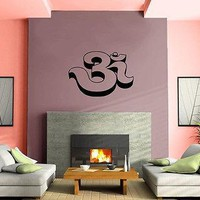 Yoga 3D Pic Symbol Om Spiritual Sanskrit Decor Wall Mural Vinyl Art Sticker Unique Gift M598