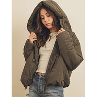 mammoth puffer jacket - olive