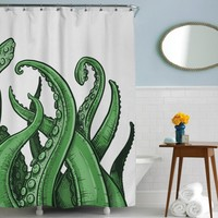 Tentacles Shower Curtain | Ocean Bath Accessories