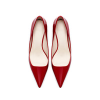 POINTED MID HEEL COURT SHOE