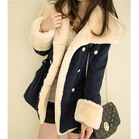 Cute Buttons Long Sleeve Cardigan Jacket Coat