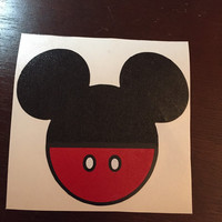 Mickey Head with Pants Decal