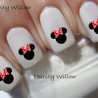 Disney Minnie Mouse Red Bow Nail Decals
