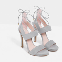 STILETTO HEEL SANDALS - View all-SHOES-WOMAN   ZARA United States