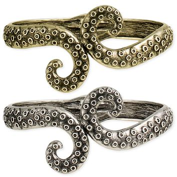 Antiqued From The Deep Octopus Tentacle Cuff
