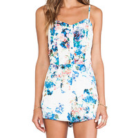 Lovers + Friends Escape Romper in White